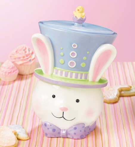 Easter Bunny Rabbit  Cookie or Treat Jar