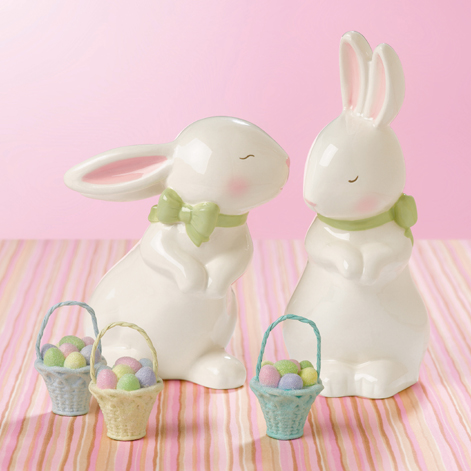 Kiss & Tell Bunny Figurines, Set of 2