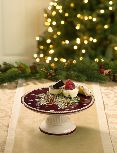 Boughs Of Holly Musical Cake Stand