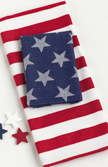 Americana Stars & Stripes Dishtowel & Dishcloth 2 Piece Set,