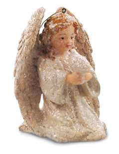 Angel With Dove Ornament, Bethany Lowe
