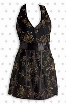 Black & Gold Floral Apron