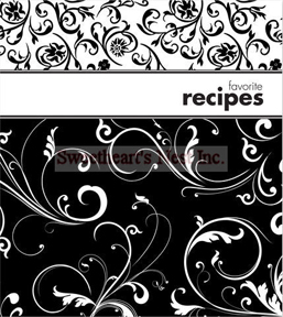 Contemporary Black & White Recipe Journal