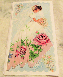 Rosie Bridal Handkerchief Mailable Card, Free Shipping!