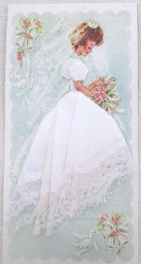 Bridal White Lace Mailable Handkerchief, Free Shipping!