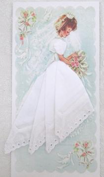 Bridal White Eyelet Mailable Handkerchief, Free Shipping!