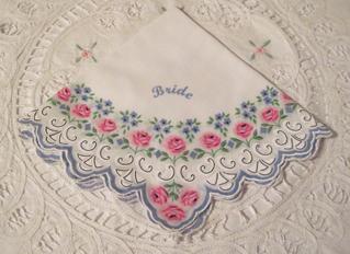 Bride Handkerchief, Free Shipping!