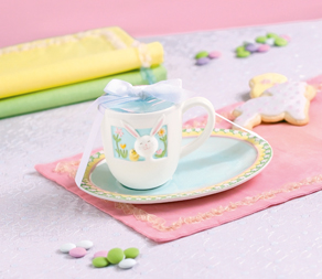 Easter Bunny Mug & Cookie Plate Set
