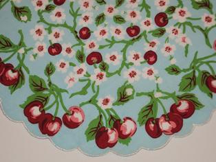 Cherry Handkerchief, Free Shipping!