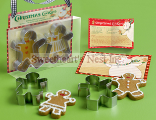Christmas Gingerbread Man Gift Set, Cookie Cutters