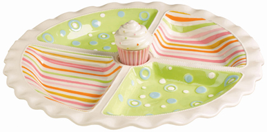 Cupcake Appetizer Dish With Toothpick Holder