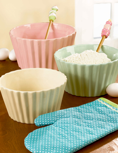 Cupcake Nested Mixing/Serving Bowls, Set Of 3
