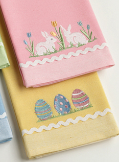 Bunny & Egg Towel Set, Set Of 2