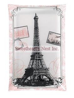 Eiffel Tower Glass Platter