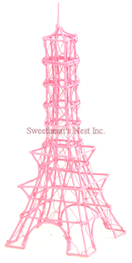 French Pink Eiffel Tower, 8""