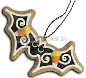 Halloween Gingerbread Cookie Ornaments, Bat, Lee Walker Shepherd, Bethany Lowe, Free Shipping!