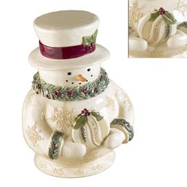 Holly Jolly Snowman Cookie Jar