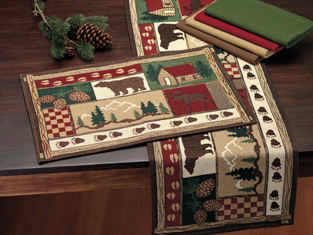Log Cabin Table Runner or Placemat Set