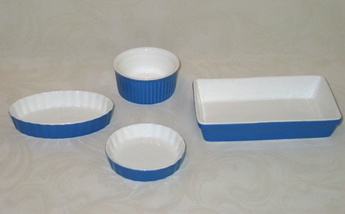 Childrens Porcelain Bakeware Set, 4 Piece Set