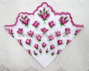 Rosebud Handkerchief, New! Free Shipping!