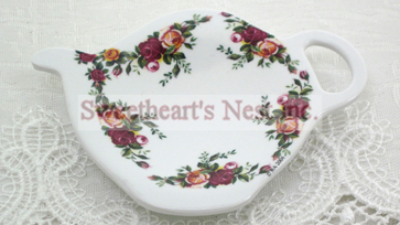 Royal Albert Old Country Roses Teabag Holder/Spoon Rest, Set Of 2