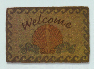 Seashell Welcome Doormat