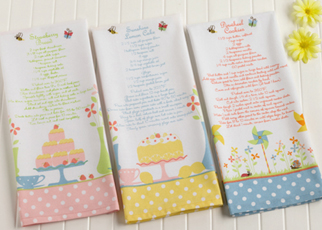 Spring Recipe Dishtowels, Set Of 3