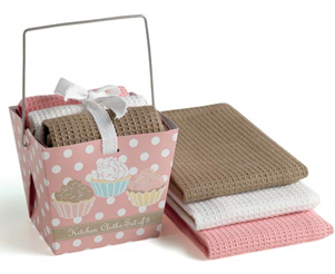 Take Out Cupcake Gift Set, Dishcloth Set Of 3