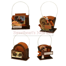 Thanksgiving Wish Treat Buckets, Bethany Lowe, Set Of 4