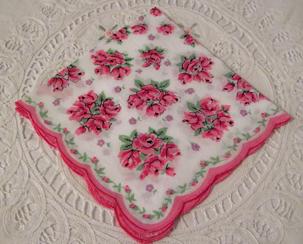 Tiffany Rose Handkerchief, Free Shipping!