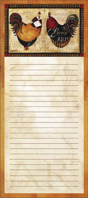 Tuscan Rooster Magnetic Notepad