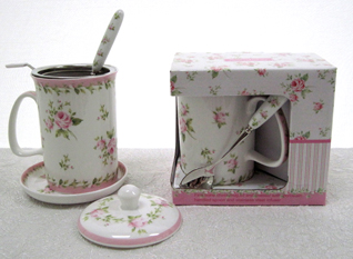 Victorian Pink Rose 5 Piece Tea Set