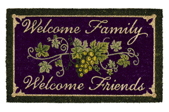 Vineyard Welcome Family Doormat