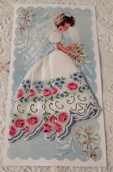 Bridal Handkerchief Mailable Card, Free Shipping