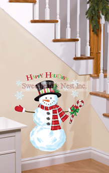 Happy Holidays Build A Snowman Kit Wall Cling