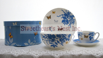 Butterfly Breakfast Set In Hat Box