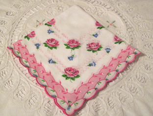 Coming Up Roses Handkerchief, Free Shipping!