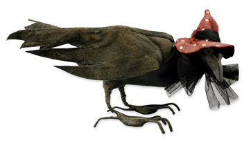 Crow With Witch Hat, Vergie Lightfoot For Bethany Lowe