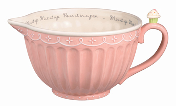 Cupcake Pink Batter Bowl & Holds 3 Quarts