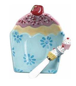 Cupcake Dip Bowl & Spreader Set