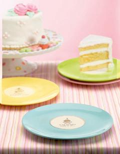 Cupcake Dessert Plates, Set Of 4