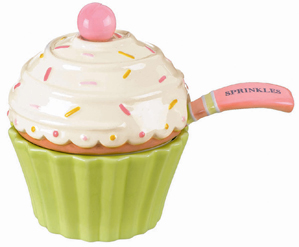 Cupcake Sprinkles Bowl With Spoon