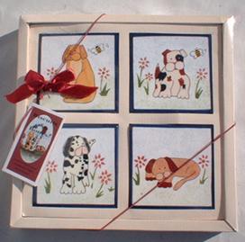 Dog Coasters, Set Of 4