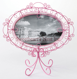 "French Inspired Oval Frame, Pink, 5"" x 7"""