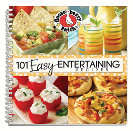 Gooseberry Patch 101 Easy Entertaining Cookbook Recipes, Free Shipping!