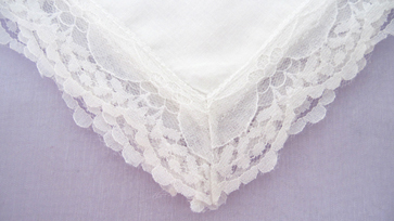 White Lace Bridal Handkerchief, Free Shipping!