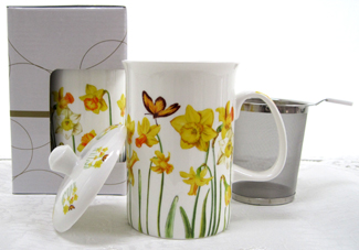 Mug & Tea Infuser Set, Daffodil, Set Of 3