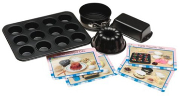 Childrens Nonstick Bakeware Set With Recipes