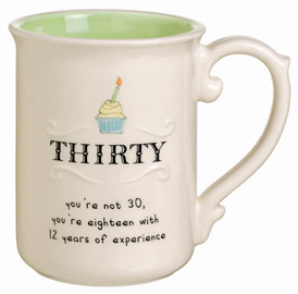 Age 30 Birthday Mug, Cupcake