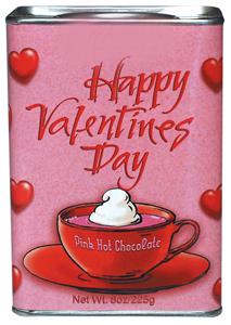 Happy Valentine's Day Pink Hot Chocolate
